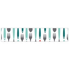 Spoon Fork Knife Pattern Small Flano Scarf by Sapixe