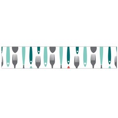 Spoon Fork Knife Pattern Large Flano Scarf  by Sapixe