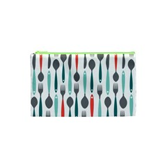 Spoon Fork Knife Pattern Cosmetic Bag (xs) by Sapixe