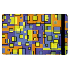 Square Background Background Texture Apple Ipad 2 Flip Case by Sapixe