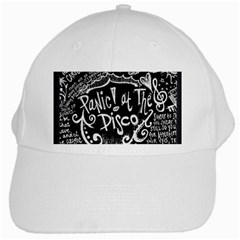 Panic! At The Disco Lyric Quotes White Cap by Samandel