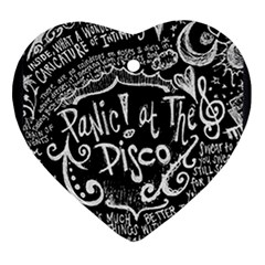 Panic! At The Disco Lyric Quotes Ornament (heart) by Samandel