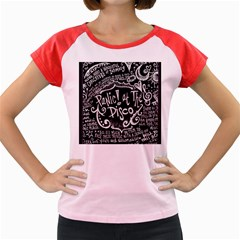 Panic! At The Disco Lyric Quotes Women s Cap Sleeve T Shirt