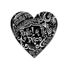 Panic! At The Disco Lyric Quotes Heart Magnet by Samandel