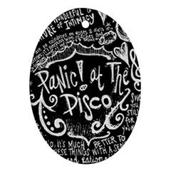 Panic! At The Disco Lyric Quotes Oval Ornament (two Sides) by Samandel