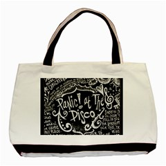 Panic! At The Disco Lyric Quotes Basic Tote Bag (two Sides) by Samandel