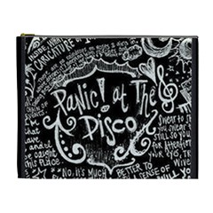 Panic! At The Disco Lyric Quotes Cosmetic Bag (xl) by Samandel