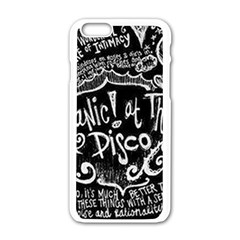Panic! At The Disco Lyric Quotes Apple Iphone 6/6s White Enamel Case by Samandel