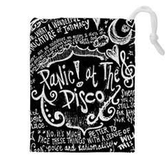 Panic! At The Disco Lyric Quotes Drawstring Pouches (xxl) by Samandel