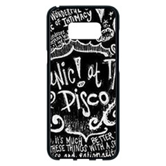 Panic! At The Disco Lyric Quotes Samsung Galaxy S8 Plus Black Seamless Case by Samandel