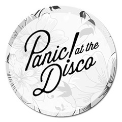 Panic At The Disco Flowers Magnet 5  (round)