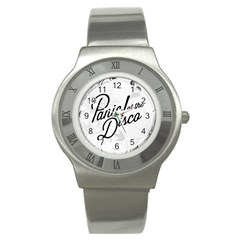 Panic At The Disco Flowers Stainless Steel Watch