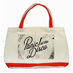 Panic At The Disco Flowers Classic Tote Bag (red) by Samandel