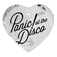 Panic At The Disco Flowers Heart Ornament (two Sides) by Samandel
