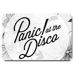 Panic At The Disco Flowers Large Doormat  by Samandel
