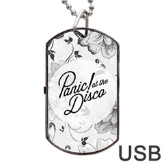 Panic At The Disco Flowers Dog Tag Usb Flash (one Side)