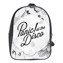 Panic At The Disco Flowers School Bag (xl) by Samandel