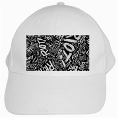 Panic At The Disco Lyric Quotes Retina Ready White Cap by Samandel