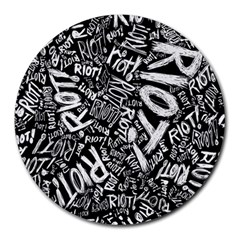 Panic At The Disco Lyric Quotes Retina Ready Round Mousepads by Samandel