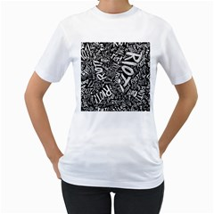 Panic At The Disco Lyric Quotes Retina Ready Women s T Shirt (white) (two Sided) by Samandel