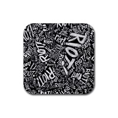 Panic At The Disco Lyric Quotes Retina Ready Rubber Coaster (square)  by Samandel