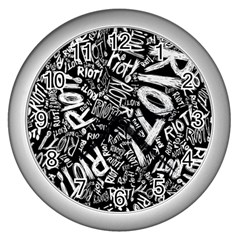 Panic At The Disco Lyric Quotes Retina Ready Wall Clocks (silver)  by Samandel