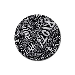 Panic At The Disco Lyric Quotes Retina Ready Rubber Coaster (round)  by Samandel