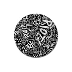 Panic At The Disco Lyric Quotes Retina Ready Magnet 3  (round)