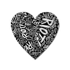 Panic At The Disco Lyric Quotes Retina Ready Heart Magnet by Samandel