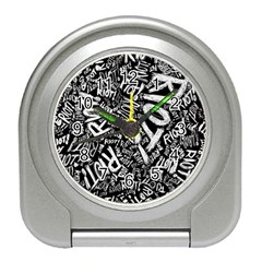 Panic At The Disco Lyric Quotes Retina Ready Travel Alarm Clocks by Samandel