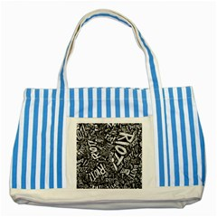 Panic At The Disco Lyric Quotes Retina Ready Striped Blue Tote Bag