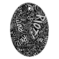 Panic At The Disco Lyric Quotes Retina Ready Oval Ornament (two Sides) by Samandel