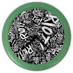 Panic At The Disco Lyric Quotes Retina Ready Color Wall Clocks by Samandel