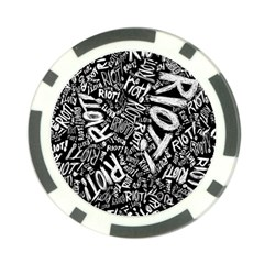 Panic At The Disco Lyric Quotes Retina Ready Poker Chip Card Guard