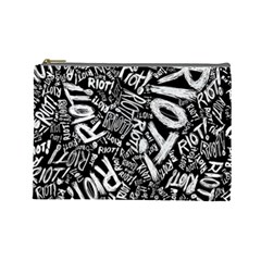 Panic At The Disco Lyric Quotes Retina Ready Cosmetic Bag (large)  by Samandel