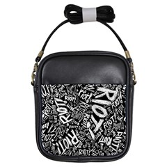 Panic At The Disco Lyric Quotes Retina Ready Girls Sling Bags by Samandel