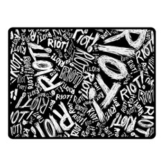 Panic At The Disco Lyric Quotes Retina Ready Fleece Blanket (small) by Samandel