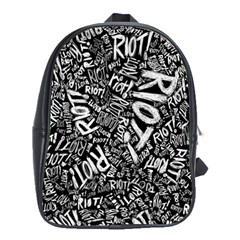 Panic At The Disco Lyric Quotes Retina Ready School Bag (xl) by Samandel
