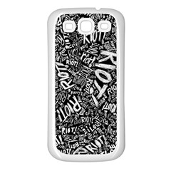 Panic At The Disco Lyric Quotes Retina Ready Samsung Galaxy S3 Back Case (white) by Samandel