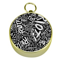 Panic At The Disco Lyric Quotes Retina Ready Gold Compasses by Samandel