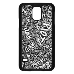 Panic At The Disco Lyric Quotes Retina Ready Samsung Galaxy S5 Case (black) by Samandel