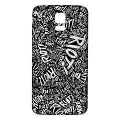 Panic At The Disco Lyric Quotes Retina Ready Samsung Galaxy S5 Back Case (white)