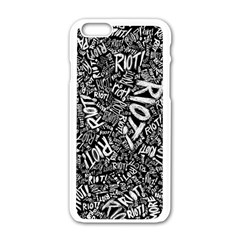 Panic At The Disco Lyric Quotes Retina Ready Apple Iphone 6/6s White Enamel Case by Samandel