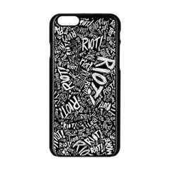Panic At The Disco Lyric Quotes Retina Ready Apple Iphone 6/6s Black Enamel Case by Samandel