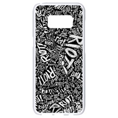 Panic At The Disco Lyric Quotes Retina Ready Samsung Galaxy S8 White Seamless Case by Samandel