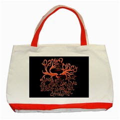 Panic At The Disco   Lying Is The Most Fun A Girl Have Without Taking Her Clothes Classic Tote Bag (red) by Samandel