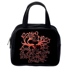 Panic At The Disco   Lying Is The Most Fun A Girl Have Without Taking Her Clothes Classic Handbags (one Side) by Samandel