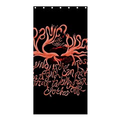 Panic At The Disco   Lying Is The Most Fun A Girl Have Without Taking Her Clothes Shower Curtain 36  X 72  (stall)  by Samandel