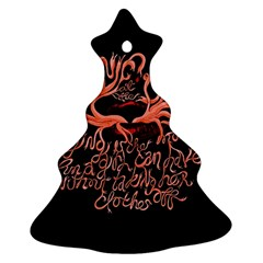 Panic At The Disco   Lying Is The Most Fun A Girl Have Without Taking Her Clothes Christmas Tree Ornament (two Sides) by Samandel