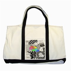 Panic ! At The Disco Two Tone Tote Bag by Samandel